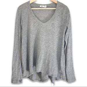WILT 100% Cotton V Neck Long Sleeve Top